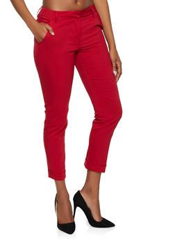 Cuffed Trousers - 3074056574612
