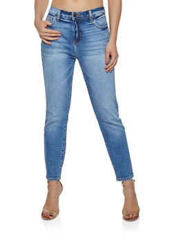 Cello Whisker Wash Mom Jeans - 3074063150631