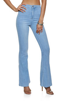 Cello Raw Hem Flared Jeans | 3074063150808 - 3074063150808