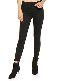 Cello Rolled Cuff Skinny Jeans - 3074063154366