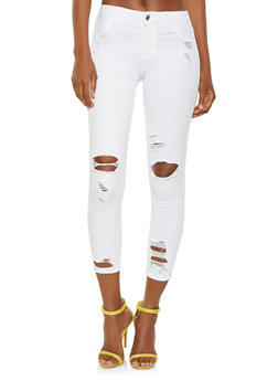 Cello Distressed Skinny Jeans in Ankle Length - 3074063154422
