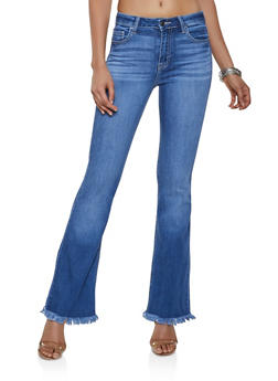 Cello Frayed Flared Jeans - 3074063154554