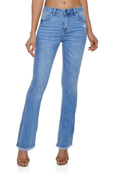 Cello Distressed Flared Jeans - 3074063154576
