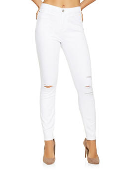 Cello Distressed Skinny Jeans - 3074063156334