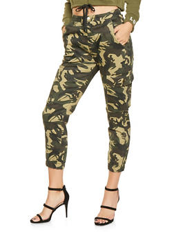 Camo Cargo Joggers - OLIVE - 3074063408893