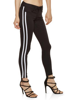 VIP Side Stripe Push Up Skinny Jeans - 3074065300126