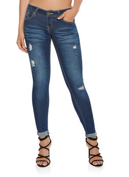 VIP Distressed Skinny Jeans - 3074065300621