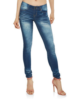 VIP Whisker Wash Push Up Jeans - 3074065301582