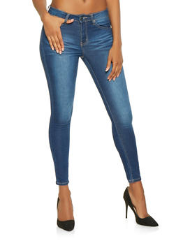 VIP Whisker Wash Push Up Jeans - 3074065302830
