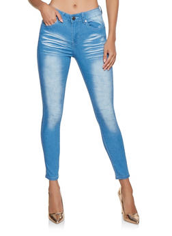 VIP Whisker Wash Push Up Skinny Jeans - 3074065302831
