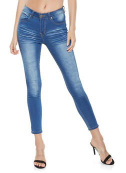 VIP Whisker Wash Push Up Jeans - 3074065302839