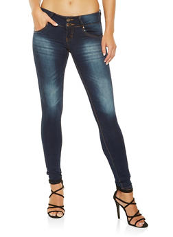 VIP 2 Button Push Up Skinny Jeans - 3074065307149