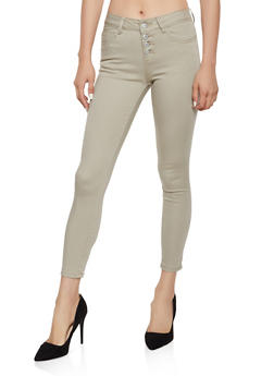 4 Button Khaki Pants - 3074065307980
