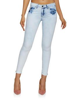 VIP Bleached Skinny Jeans - 3074065308096
