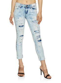 VIP Destroyed Cloud Wash Jeans - 3074065308181