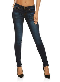 VIP Whisker Wash Push Up Skinny Jeans - 3074065308649