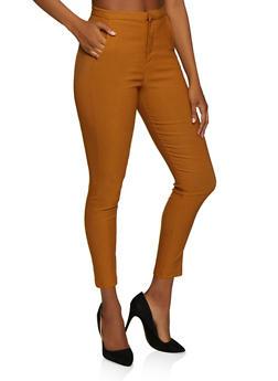 High Waisted Stretch Dress Pants - 3074068191010