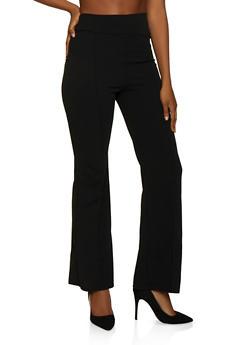 Pintuck Pull On Dress Pants - 3074068193563