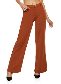 High Waisted Textured Knit Pants - 3074068193653