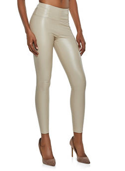 Faux Leather Leggings - 3074068199403