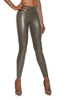 Faux Leather Leggings - 3074068199403