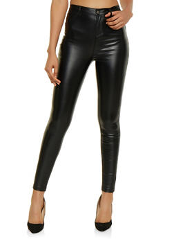 Coated Skinny Pants - 3074068199433