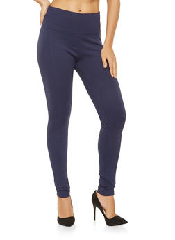 Ponte Knit Pull On Pants - 3074068199877