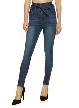Highway Belted Whisker Wash Jeans - 3074071310010