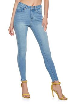 Highway Whisker Wash Skinny Jeans - 3074071311413
