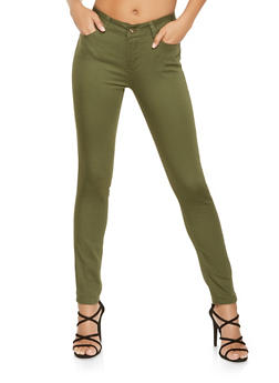 WAX Colored Push Up Skinny Pants - 3074071610031