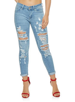 WAX Destroyed Skinny Jeans - 3074071610102