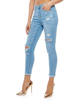 WAX Distressed Skinny Jeans - 3074071610120