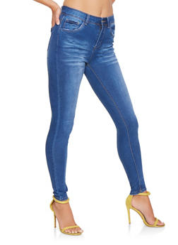WAX Whisker Wash Skinny Jeans - 3074071610123