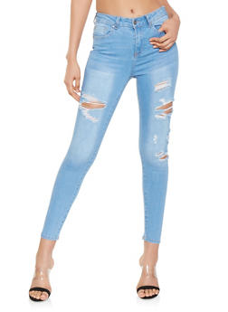 WAX Destruction Skinny Jeans - 3074071610127