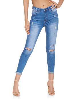 WAX Distressed Push Up Skinny Jeans - 3074071610128
