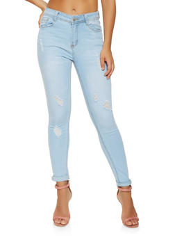 WAX Distressed Skinny Jeans - 3074071610129