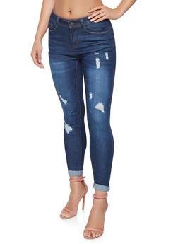 WAX Distressed Skinny Jeans - 3074071610129