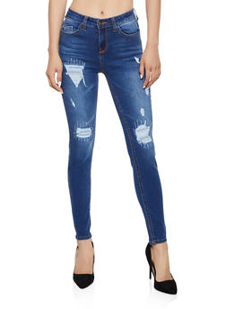 WAX Patch and Repair Frayed Skinny Jeans - 3074071610141