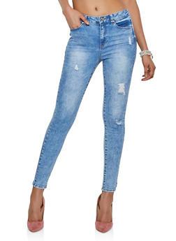 WAX Distressed Skinny Jeans | 3074071610150 - 3074071610150