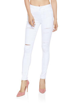 WAX Distressed High Waisted Skinny Jeans | 3074071610172 - 3074071610172