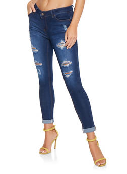 WAX Distressed Push Up Jeans - 3074071610300