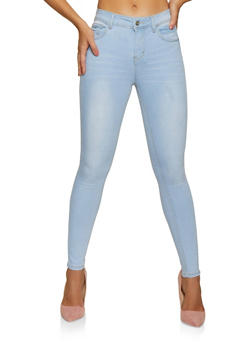 WAX Single Button Denim Skinny Jeans - 3074071613210