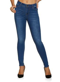 WAX Single Button Denim Skinny Jeans - 3074071613210