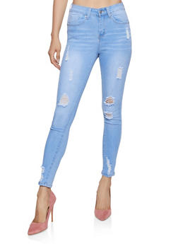 WAX Distressed Push Up Jeans | 3074071614447 - 3074071614447