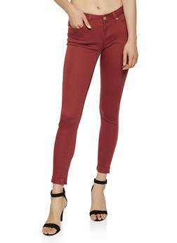 Cuffed Skinny Pants - 3074071614545