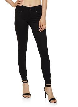 3 Button Twill Skinny Pants - 3074071615757