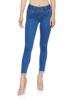 WAX 3 Button Rolled Cuff Jeans - 3074071618400