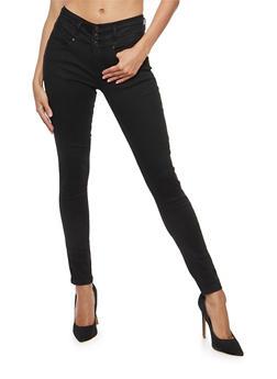 WAX Wide Waist Push Up Jeans - 3074071619087
