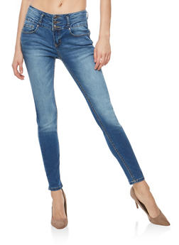 WAX Wide Waist Push Up Jeans - 3074071619087