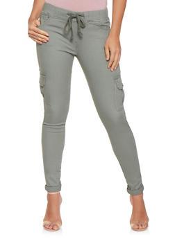 Denim Cargo Pants - 3074072290027